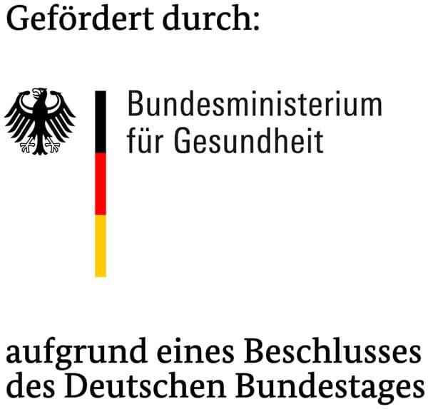 Gefördert durch: Bundesministerium für Gesundheit aufgrund eines Beschlusses des Deutschen Bundestages